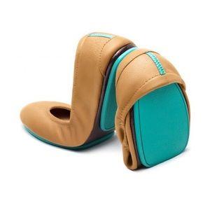 Camel Tieks Leather Flats